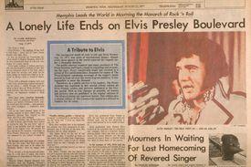 Newspaper Article on Elvis Presley's death