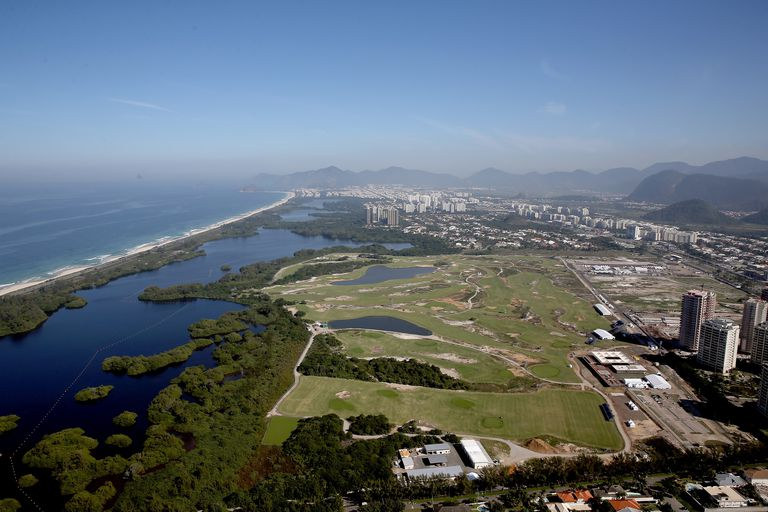 Olympic Golf Course from overhead a couple months before the 2016 Olympics in Rio