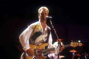 English singer songwriter Sting