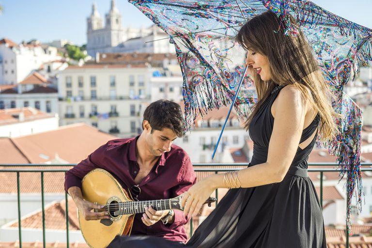 Fado Singer and Guitarist Perform
