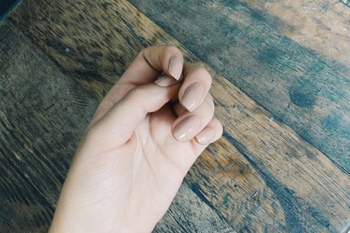 Cropped Image Of Hand With Nail Polish
