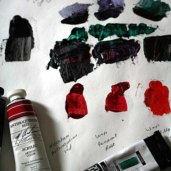 Experiments mixing chromatic black