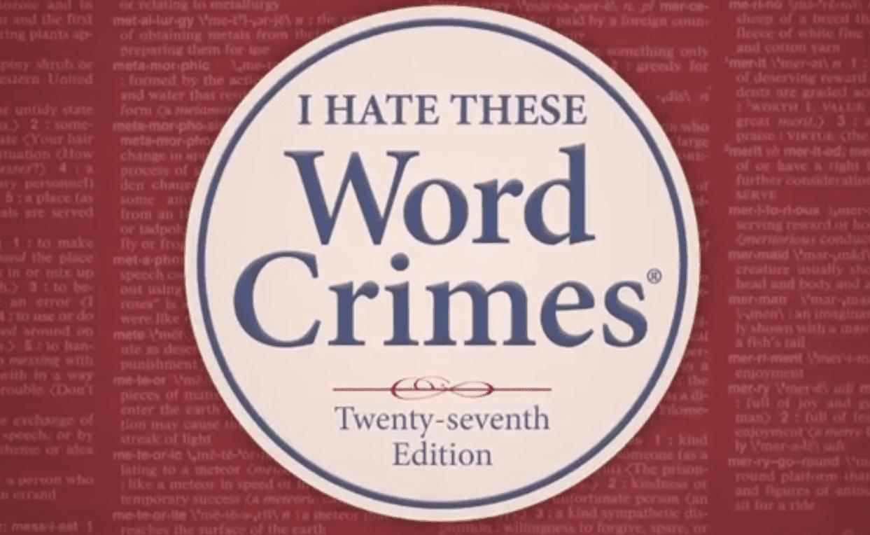 Weird Al Yankovic - Word Crimes