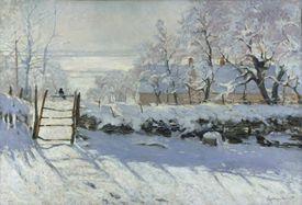 Winter landscape by Claude Monet.