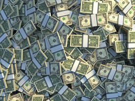 Image of a pile of cash.