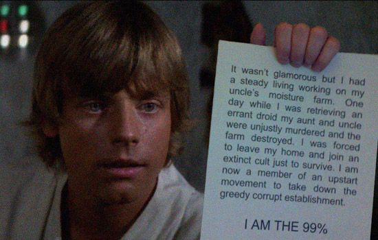 Luke Skywalker: I Am the 99%