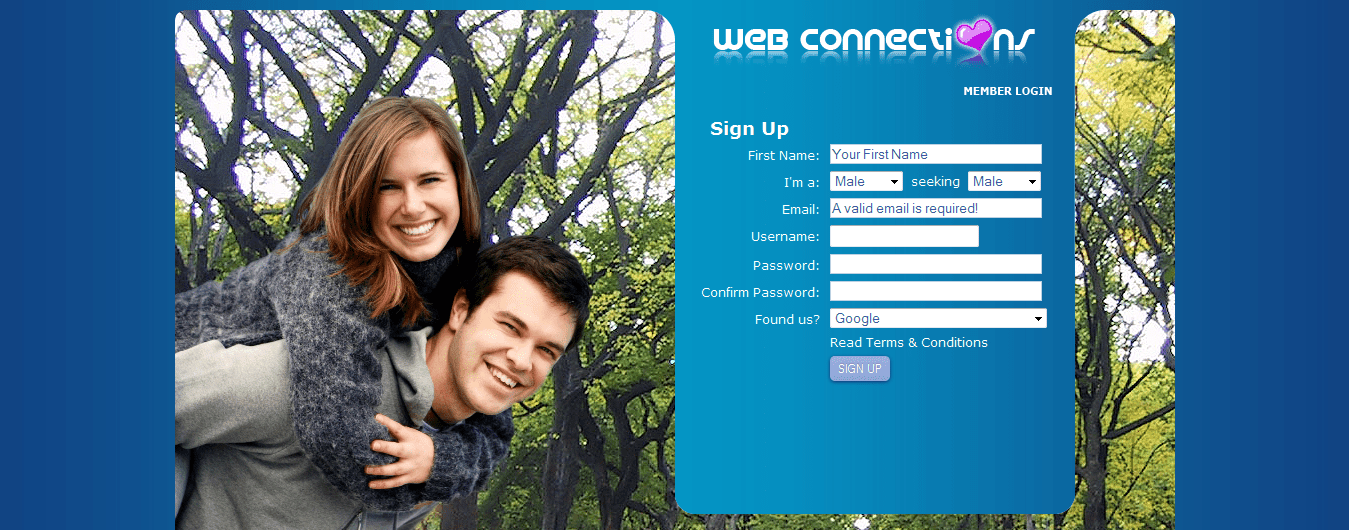 Webconnections Dating Site.