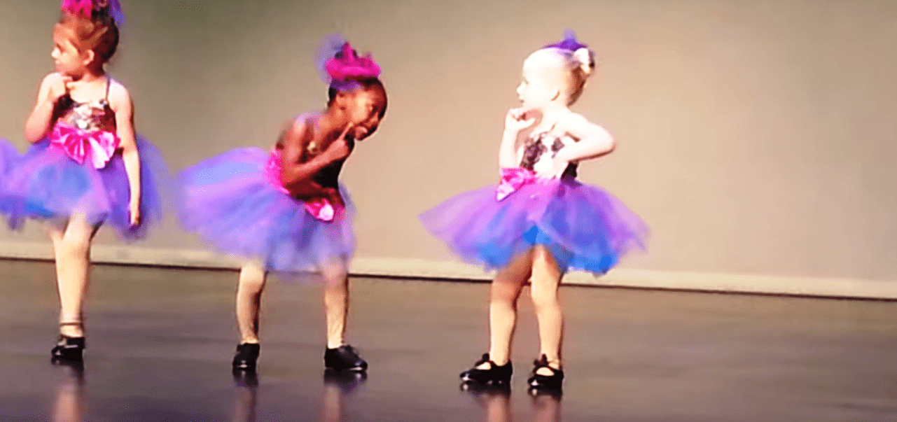 little girl dancing follies