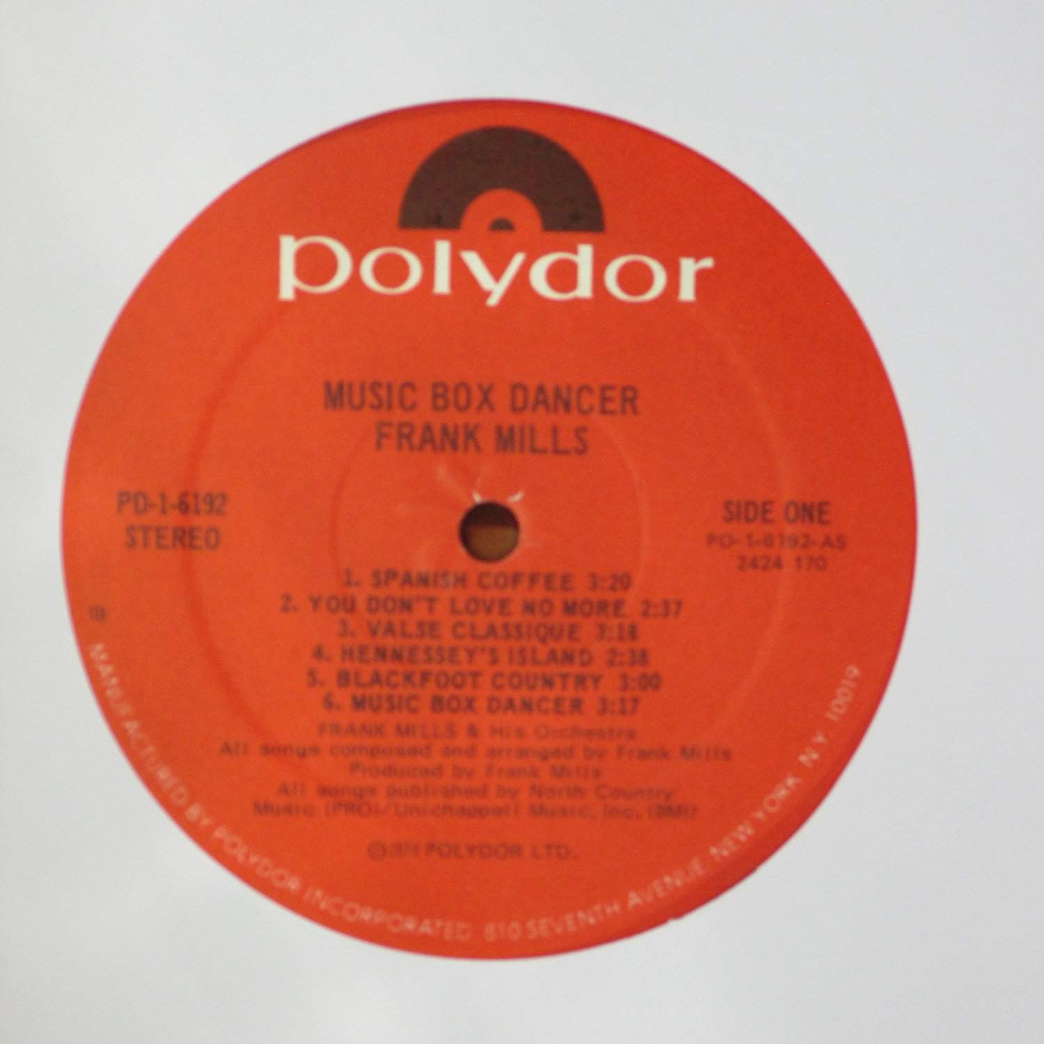 """""""Music Box Dancer"""" by Frank Mills on 45"""
