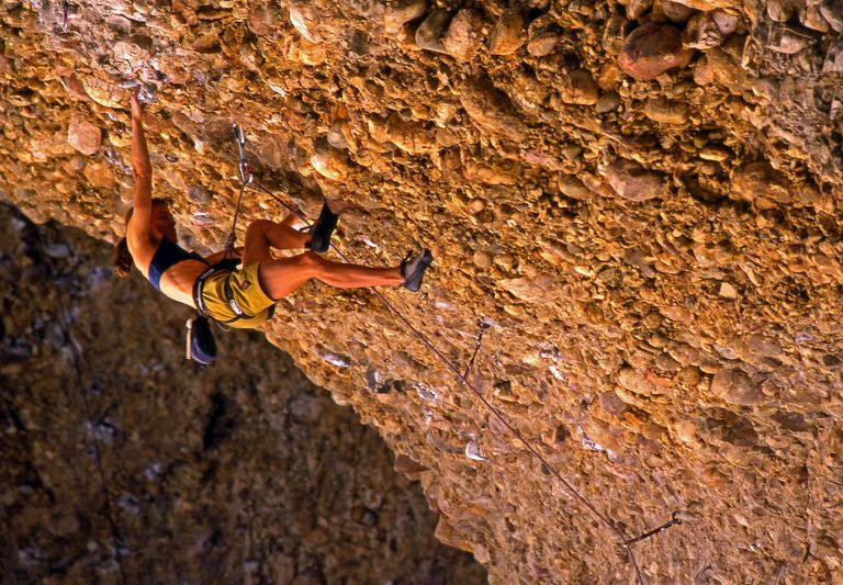 Mia Axon relies on her rope on the Cobble Roof at Maple Canyon in Utah. Remember that your rope is your lifeline. Treat it well and it will last long.