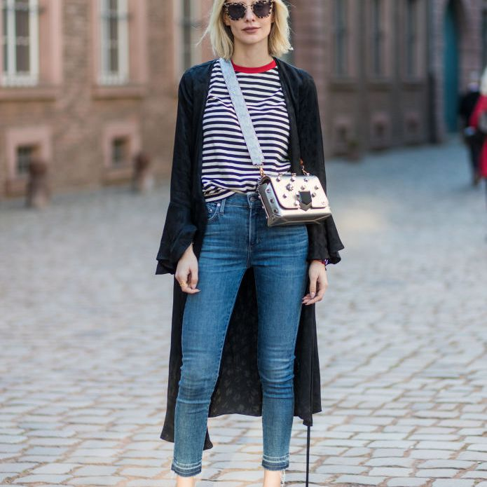 Street style jeans and stripes