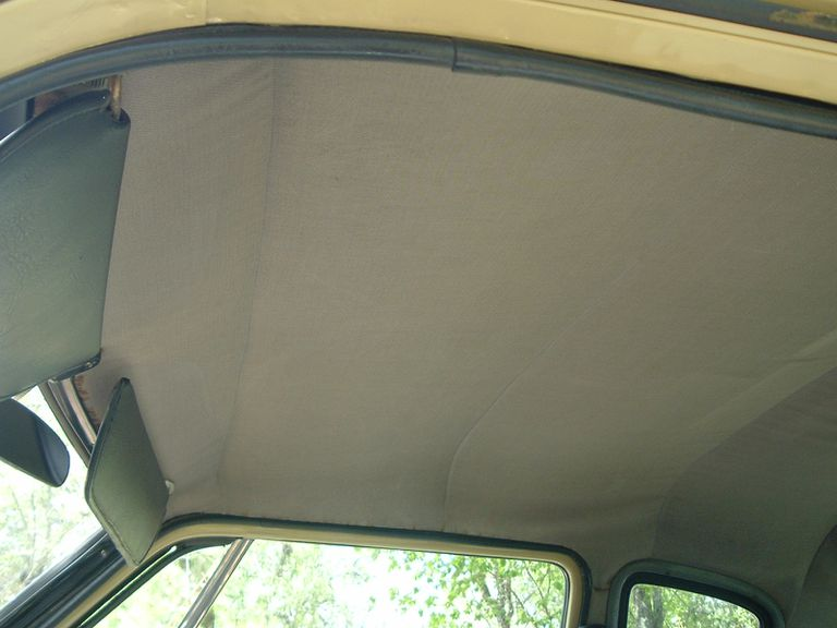 How to fix sagging car headliner
