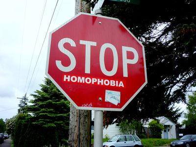 Homophobia is gay( not sure why I found this so