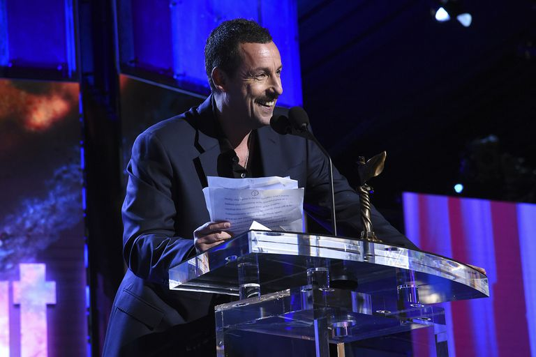 Actor Adam Sandler accepts the Best Lead Actor Award at the 2020 Film Independent Spirit Awards
