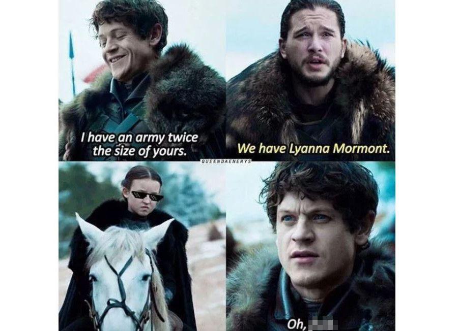 John Snow and Ramsey Bolton meme