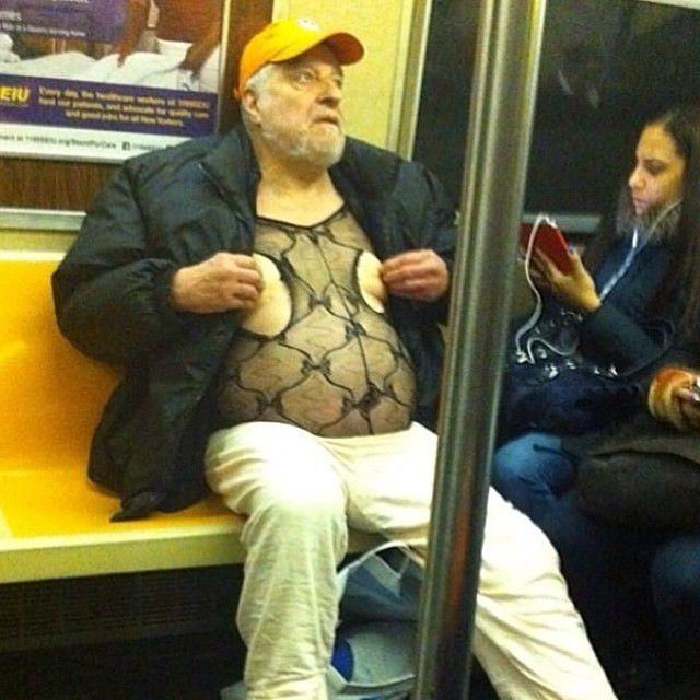 nips exposed on subway