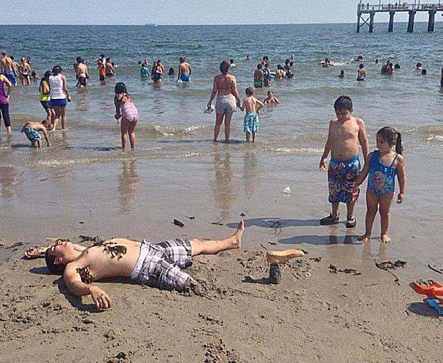 awkward beach