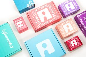 Influenster VoxBoxe's on a table