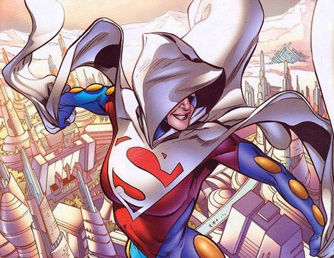 Comic panel of Superwoman