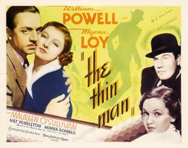 Film poster for the 1934 American detective film The Thin Man (1934).