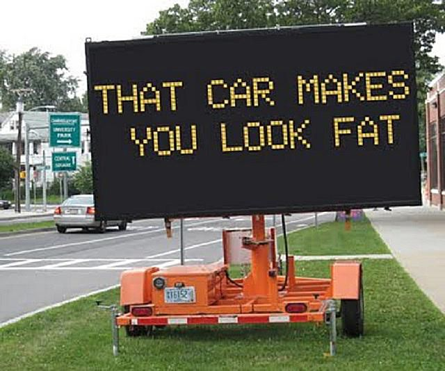 hacked traffic sign