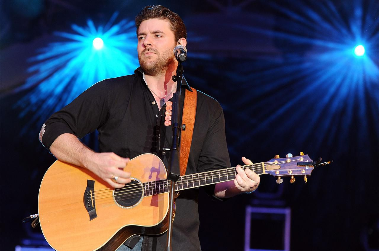 Chris Young performs during the Academy of Country Music concerts at the Fremont Street Experience on April 1, 2011 in Las Vegas, Nevada.