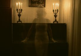 ghost shadow on wall