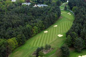 14th fairway at Wentworth Club golf course in England