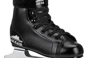 Boys double runner figure skate in black