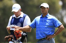 Tiger Woods (with caddie Steve Williams) during the 2008 U.S. Open.
