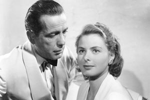 Humphrey Bogart and Ingrid Bergman in the movie <i>Casablanca</i> (1942)