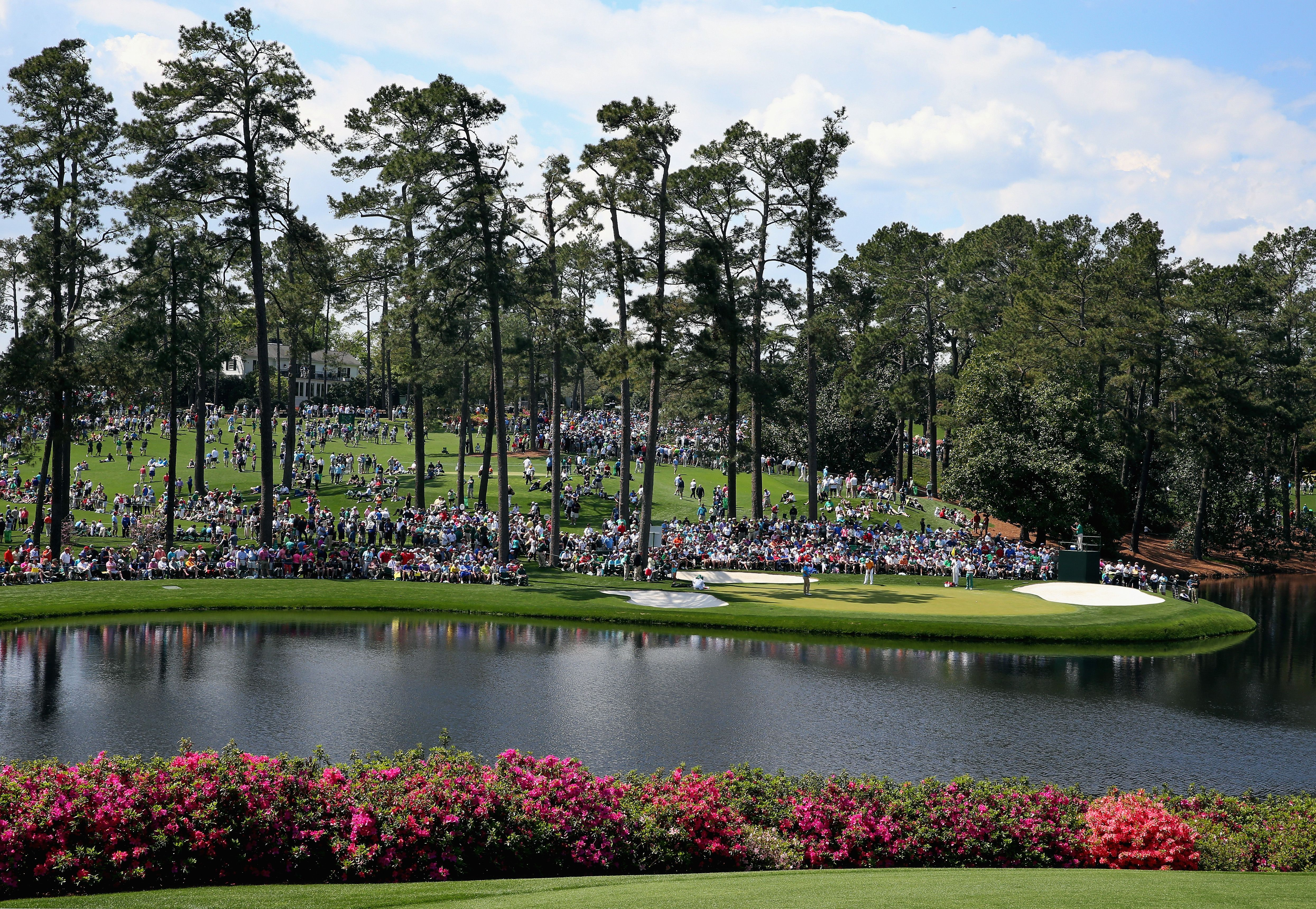 General view across the Par-3 Course at Augusta National.