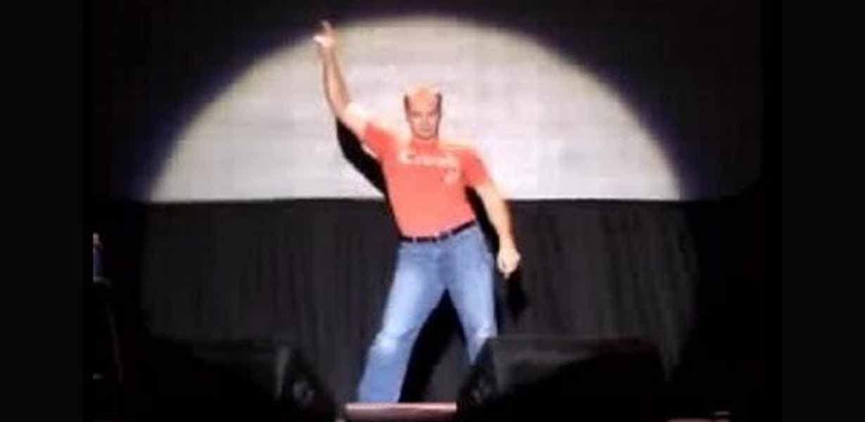 Screenshot of Evolution of Dance viral video
