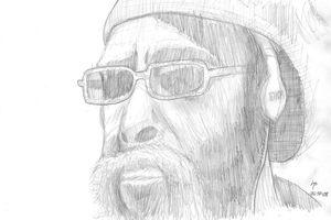 Sketch portrait of a man