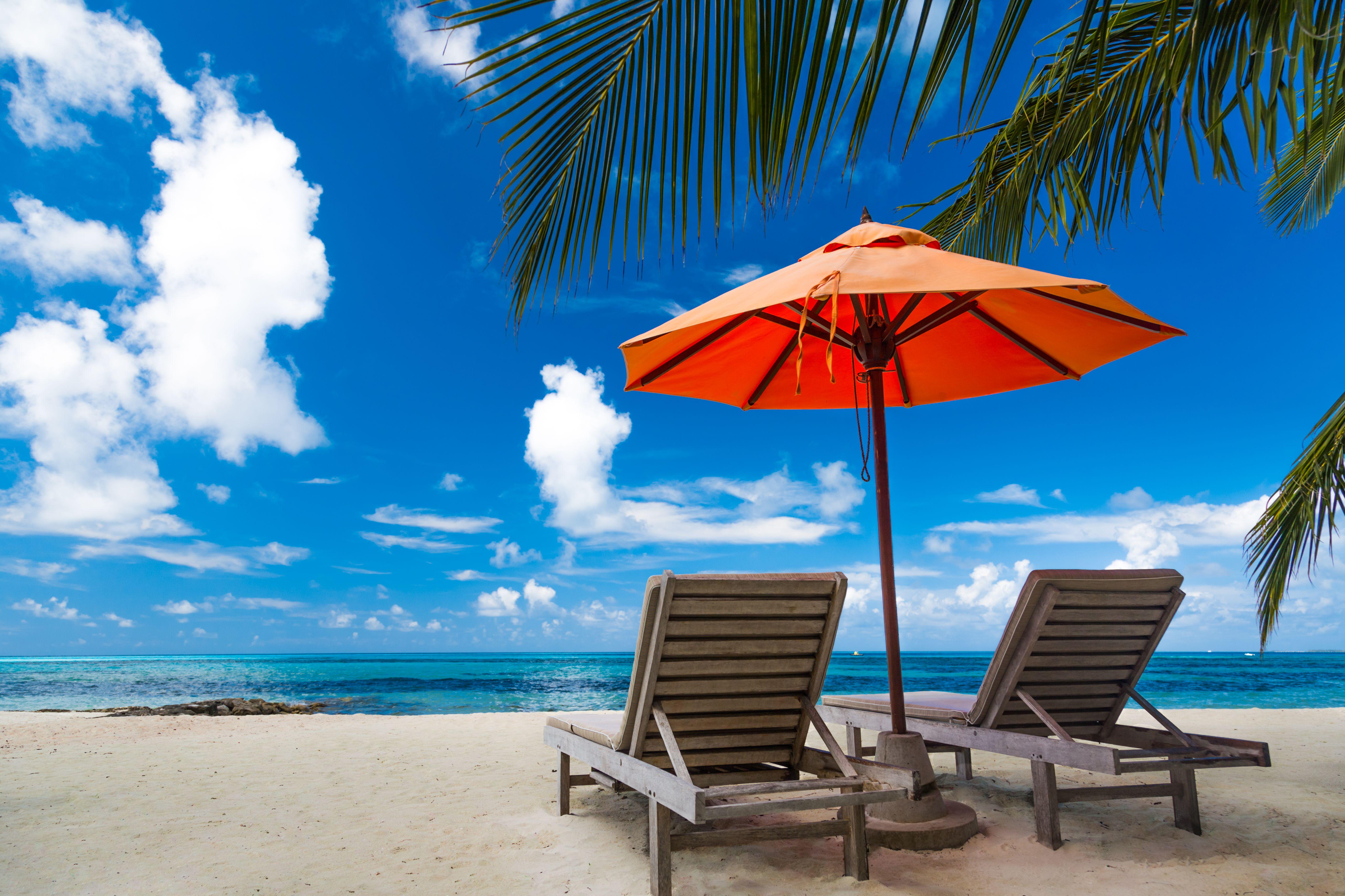 Sunbathing on the Beach