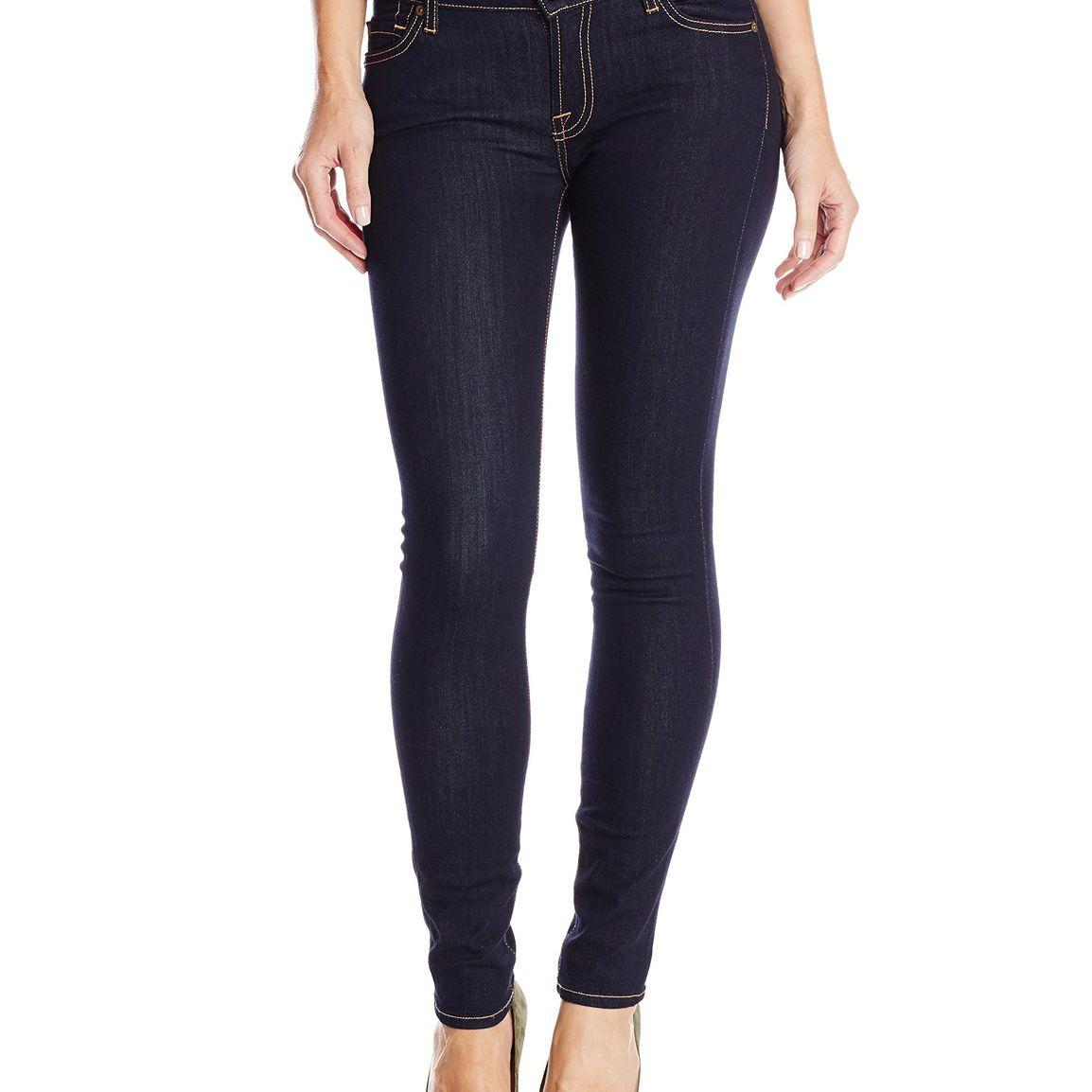 7 For All Mankind Women's Skinny Jean in Rinsed Indigo