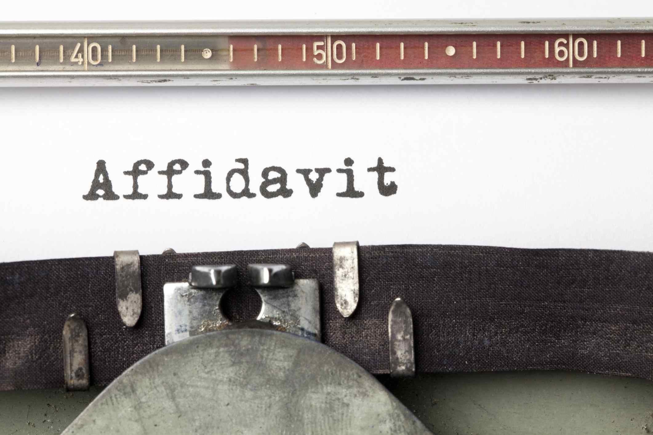 Image of an Affidavit