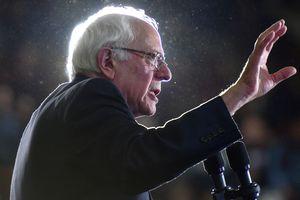 Senator Bernie Sanders making a speech