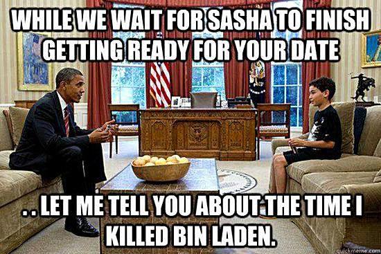Obama Talking to Sasha's Date