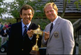 Ryder Cup captains Tony Jacklin and Jack Nicklaus in 1987