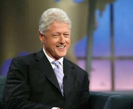 Bill Clinton Appears On The Daily Show With John Stewart