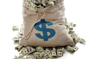 Image of a sack of cash, illustrating About.com's Cash Sweepstakes List.