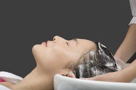 Women having her hair washed