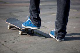 skateboard and feet