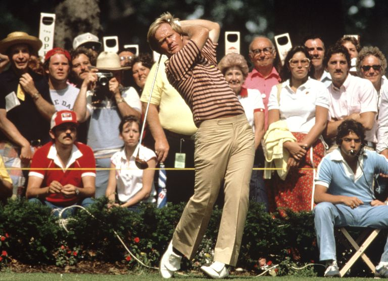 Jack Nicklaus tees off during the 1980 U.S. Open.