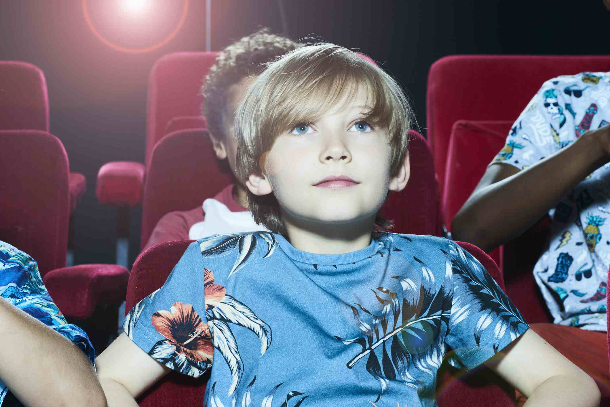 Boy Watching a Movie