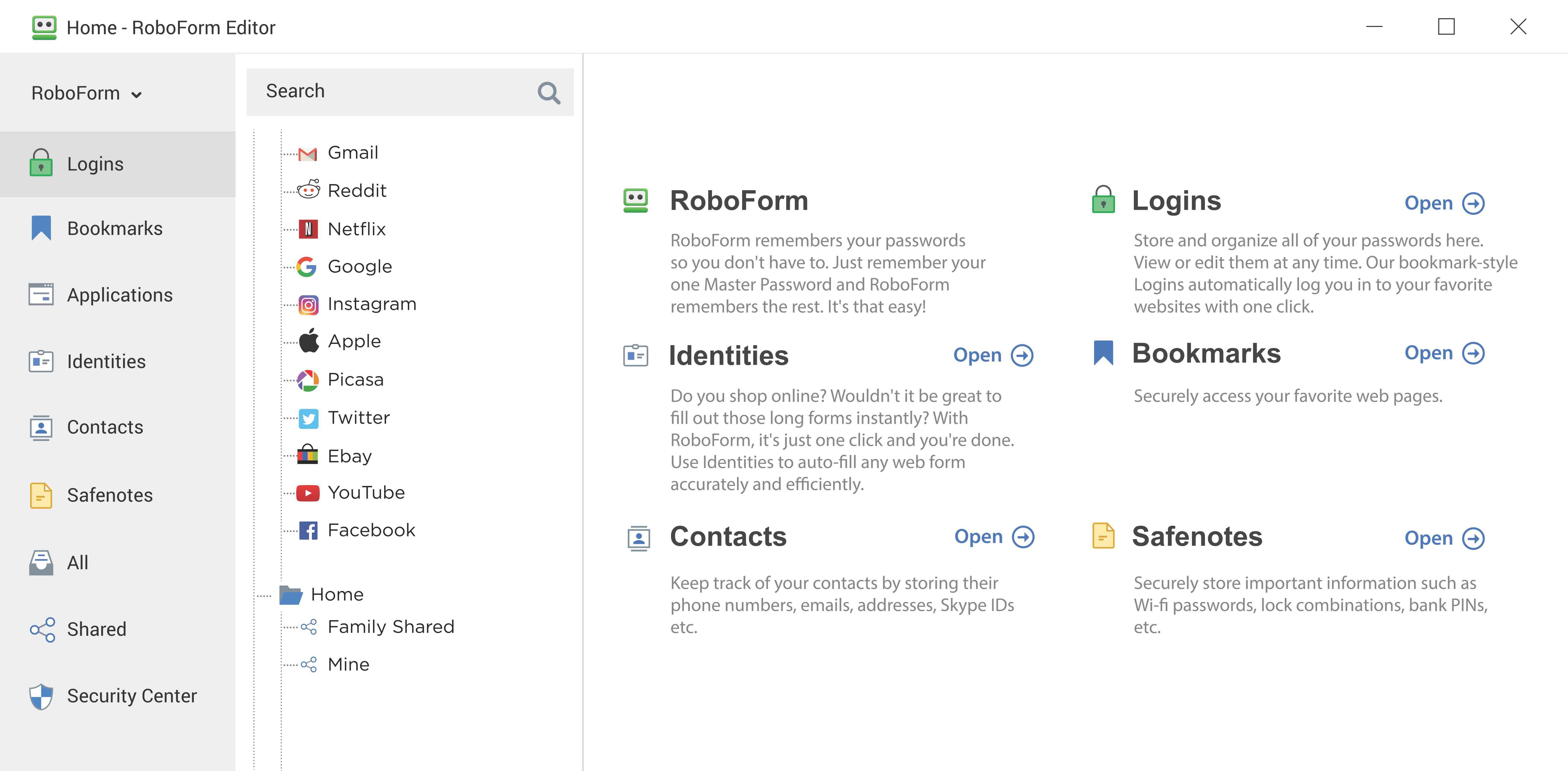 Roboform Screenshot