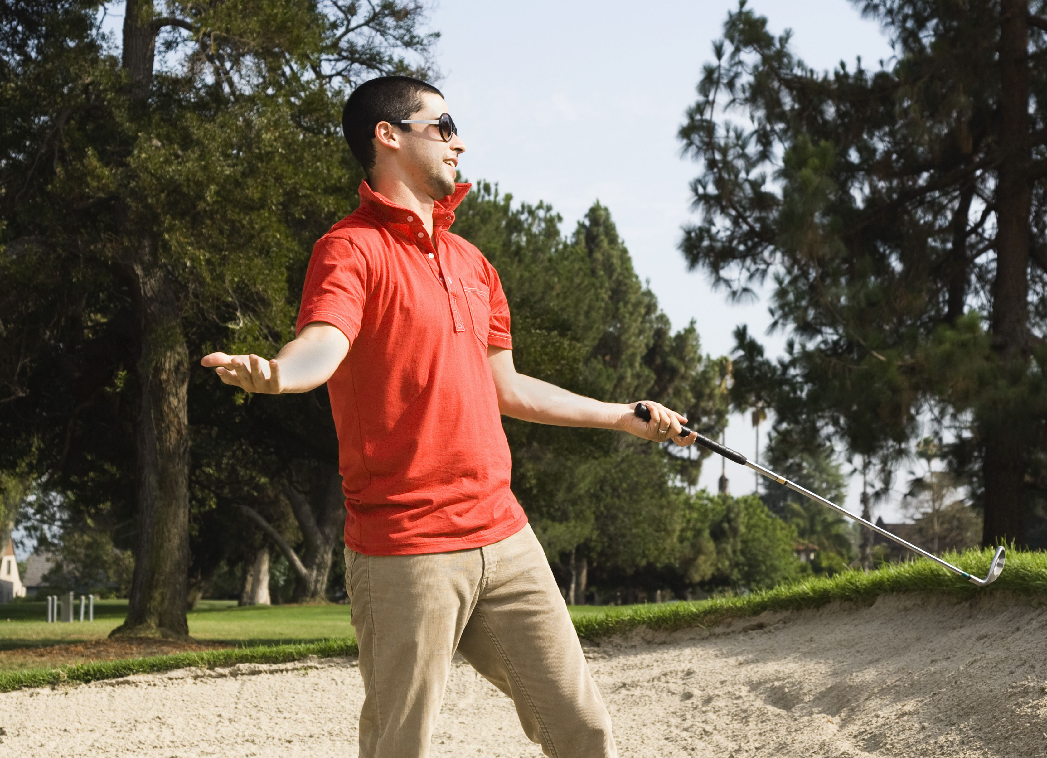 golfer shrugging