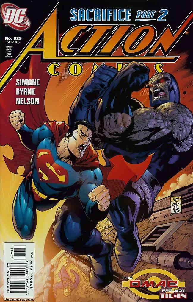 Action Comics issue 829 cover art.