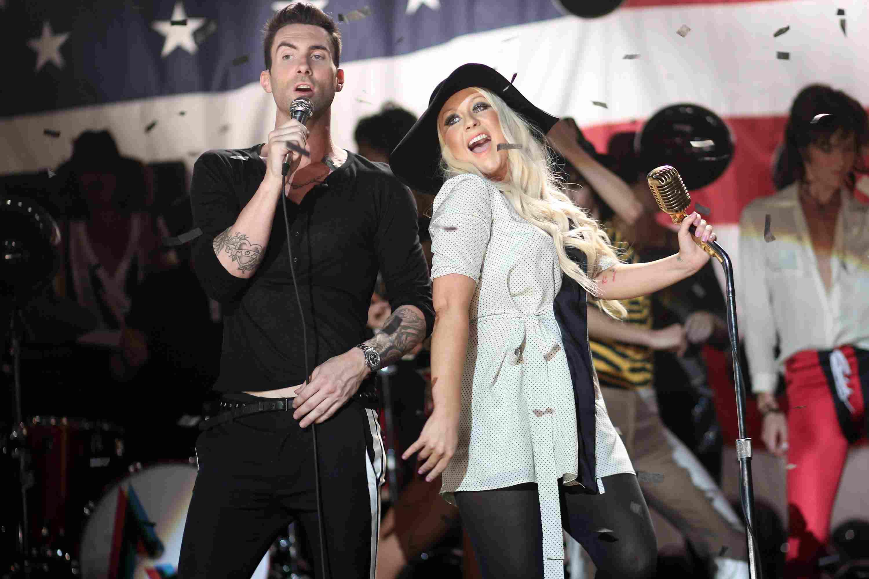Maroon 5 and Christina Aguilera